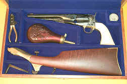 1860 Army Engraved Ivory Cased with Shoulder Stock.jpg (45774 bytes)